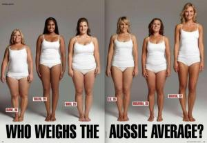 All these women weight the same, so I ask what is the AVERAGE??? There isn't one.